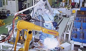 頭部ロボット溶接システム